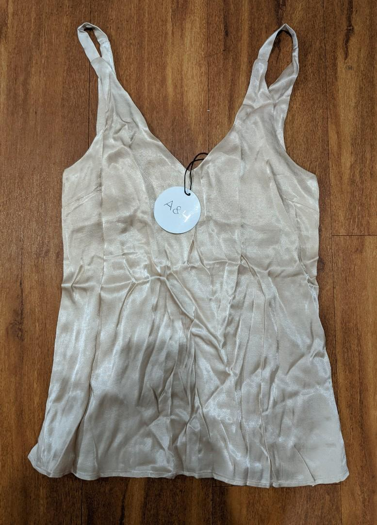 Atmos & Here champagne cami. Size 6 - new with tags