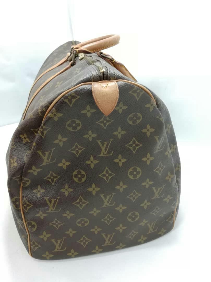 AUTHENTIC LOUIS VUITTON KEEPALL 55 - MONOGRAM LOGO CANVAS - INTERIOR CLEAN - VINTAGE LV, SO NOT FOR FUSSY BUYERS - WITHOUT PADLOCK