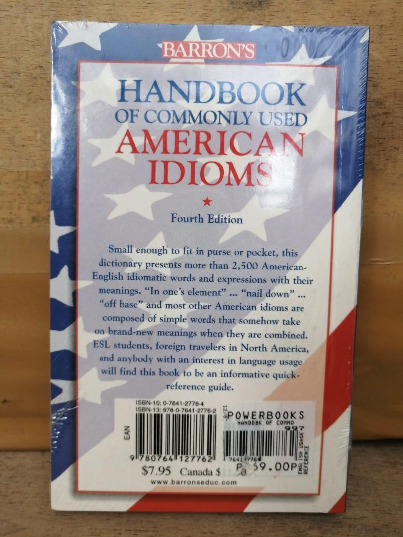 Barron's Handbook of Commonly Used American Idioms Fourth Edition