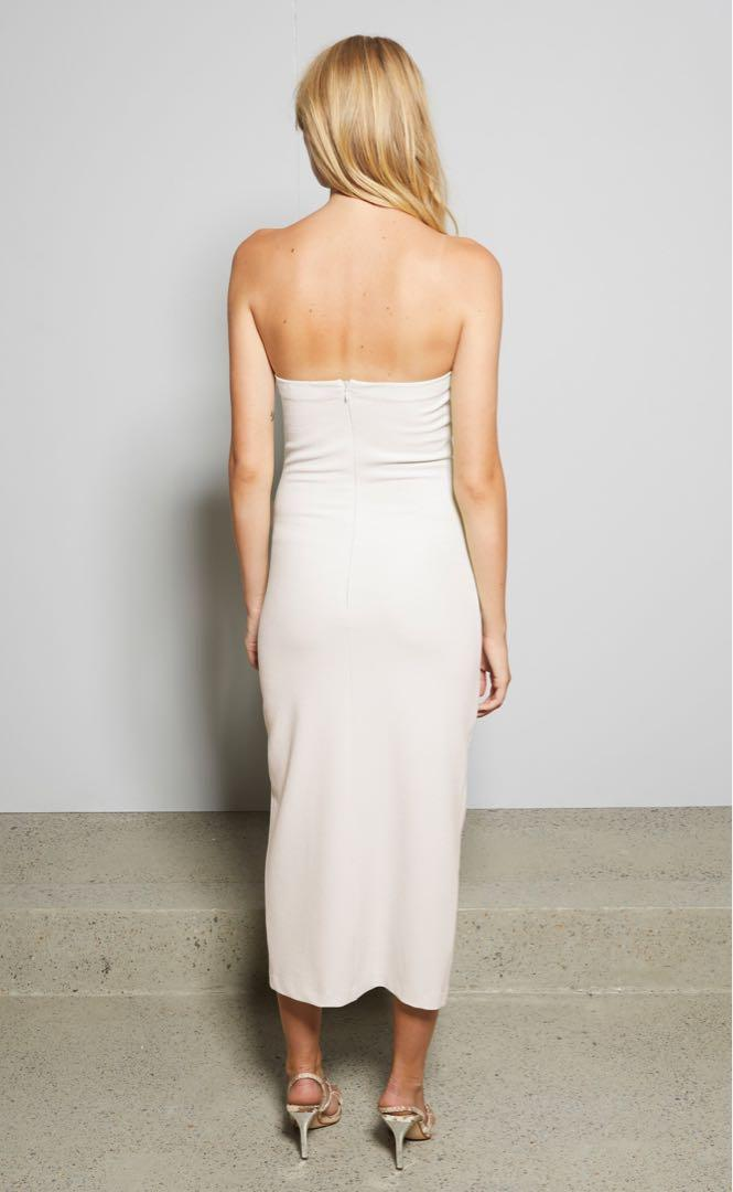 "Bec & Bridge ""Sofie"" Strapless Midi Dress (size 8)"