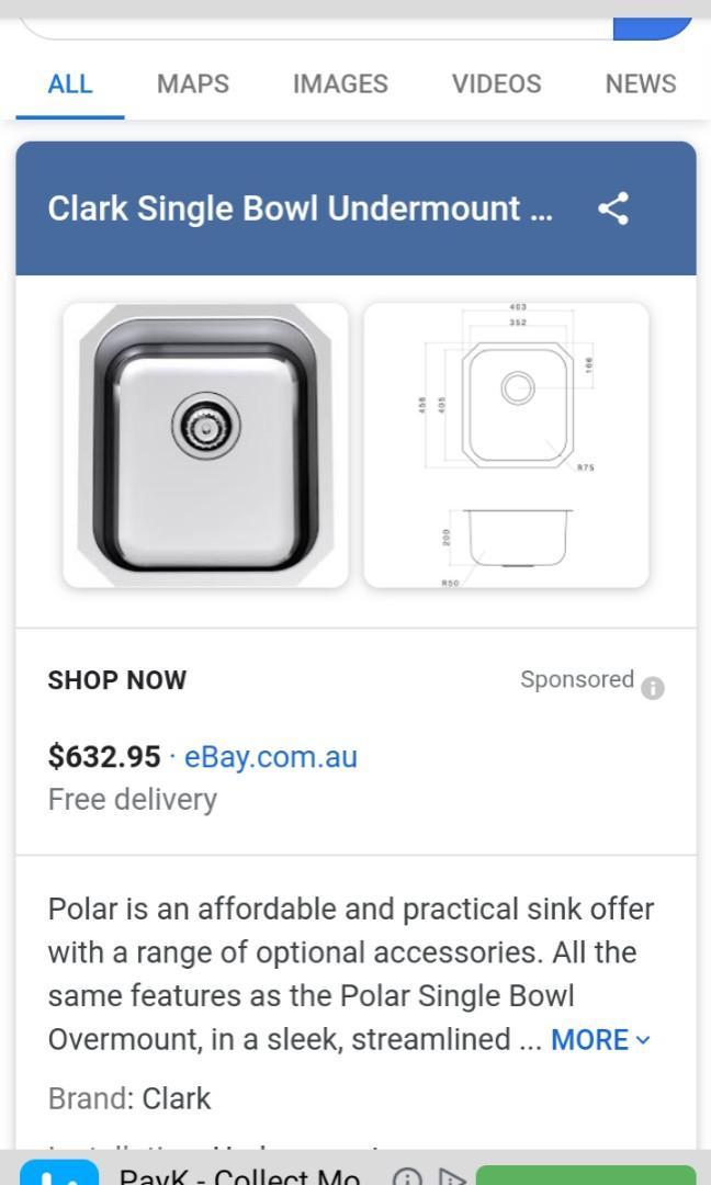 Clark: Polar Single Bowl Undermount (Kitchen Sink)