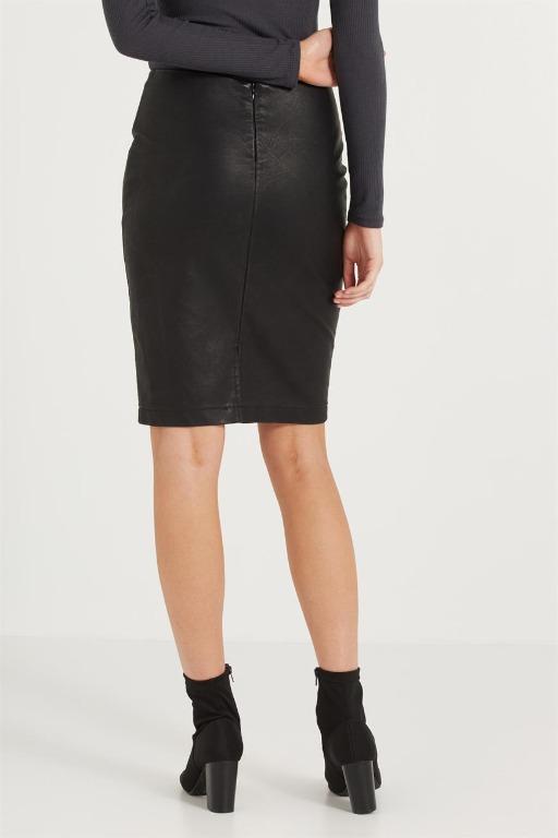 Faux Leather Pencil Midi Skirt - Cotton On - Size M 12