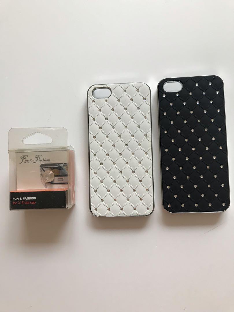 iPhone 5 cases- buy 1 get 1 free with bonus, Dimond  shape press button