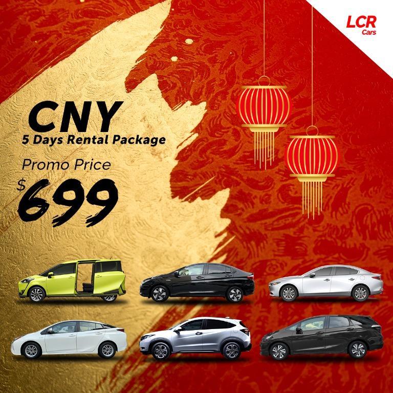 LCR 2020 CNY PROMO: 5 DAYS RENTALS @ $699
