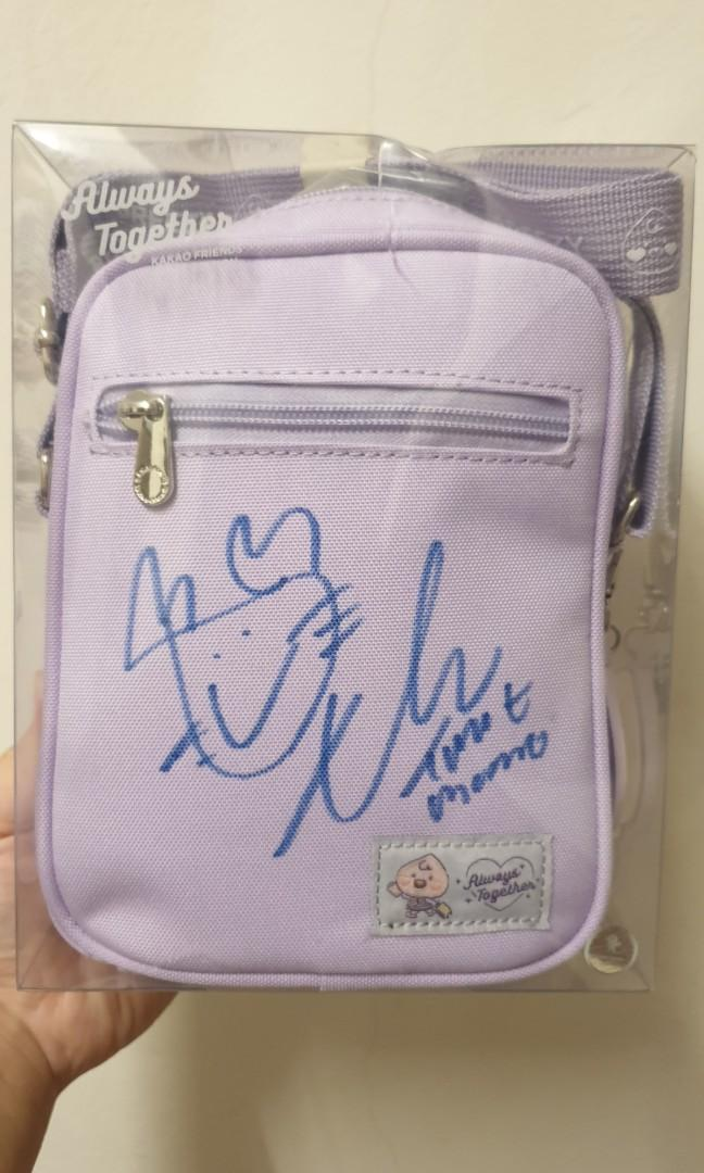 Momo Autographed Kakao Friends Twice Edition Official Merchandise Anti Theft Bag