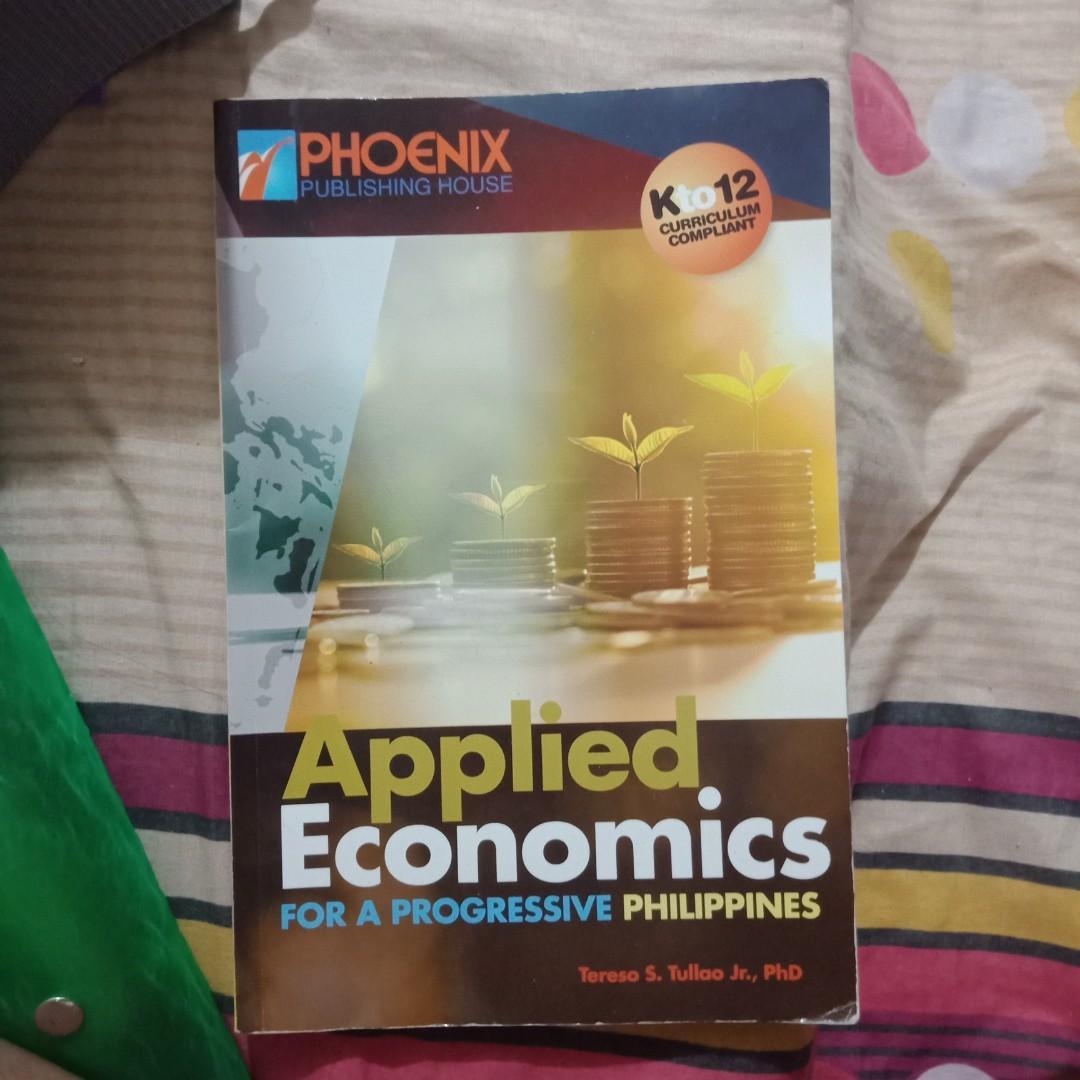 Phoenix publishinh house- APPLIED ECONOMICS FOR A PROGRESSIVE PHILIPPINES