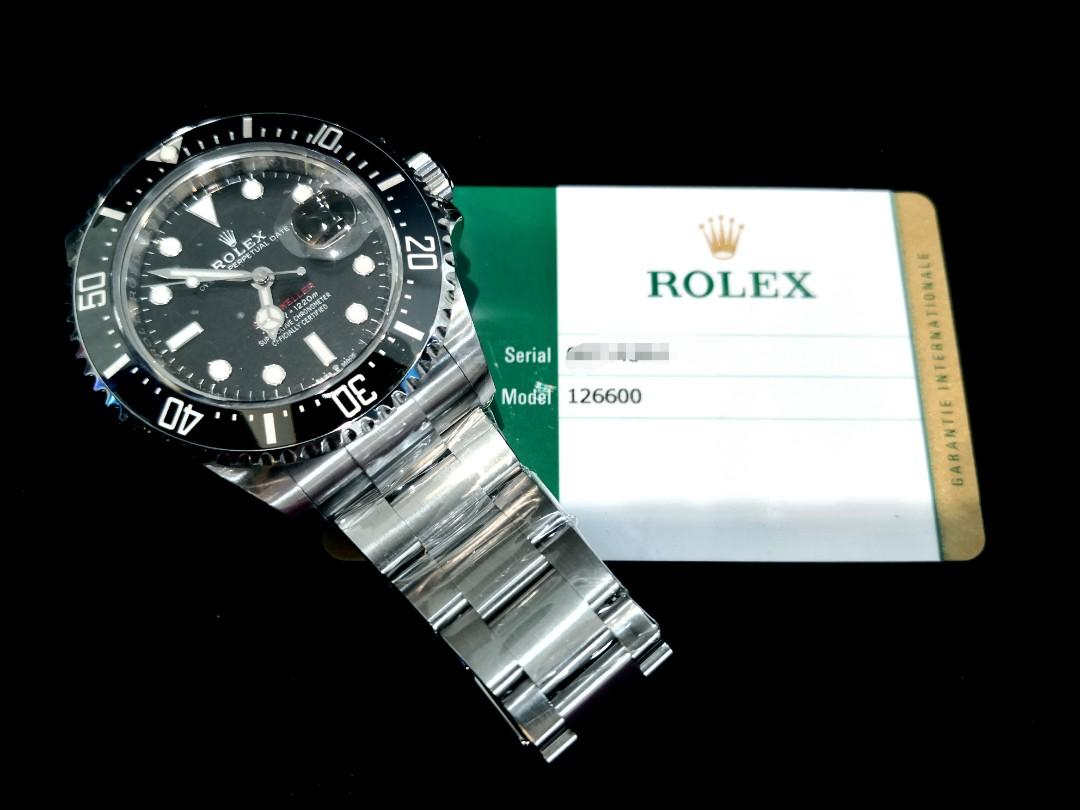 PREOWNED ROLEXSEA-DWELLER, 126600, Oystersteel, 43mm, Alphanumeric Series @ Dated 2019, Nov. Mens Watch