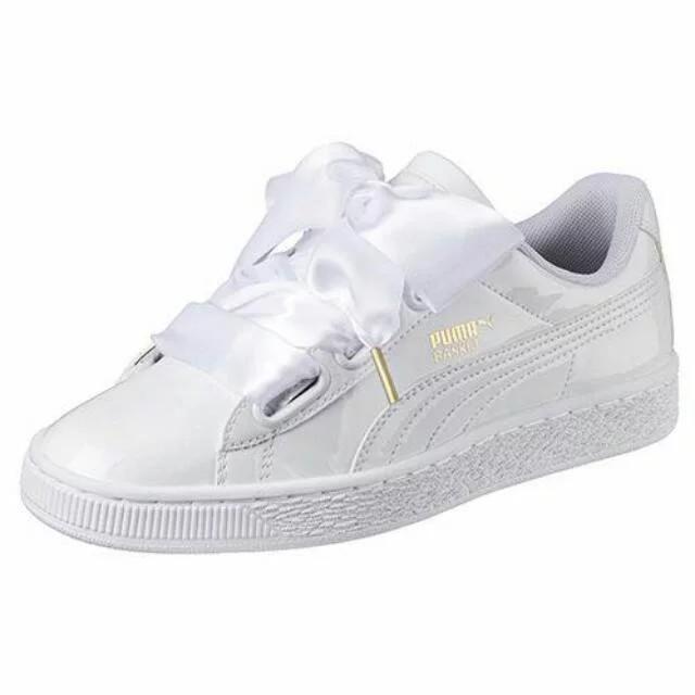 Puma Fenty Ribbon Sneakers in White