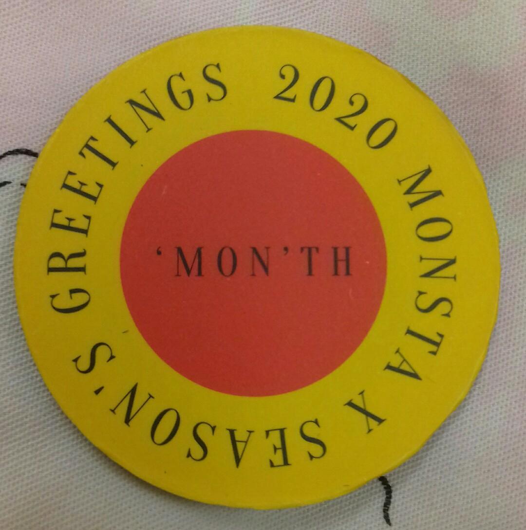(Ready Stock) 2020 Monsta X Season's Greetings Magnet