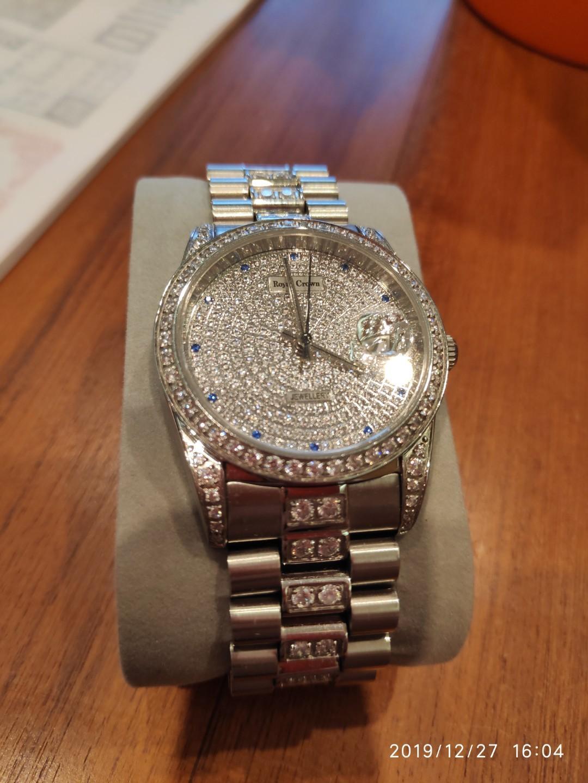 Royal Crown滿天星鋼帶石英手錶