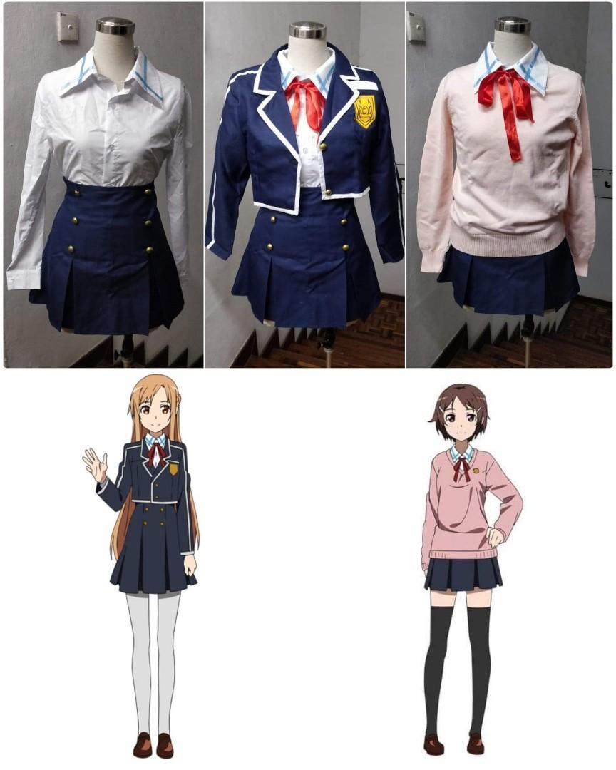 SAO Sword Art Online Lisbeth Asuna JK School Uniform