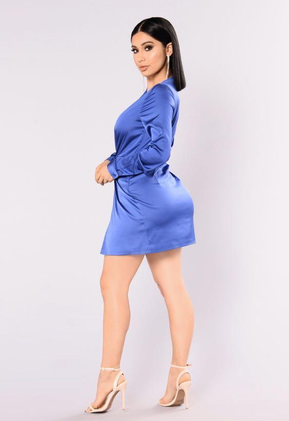 "Satin Wrap Dress (Fashion Nova ""Sugar Free"" Dress)"