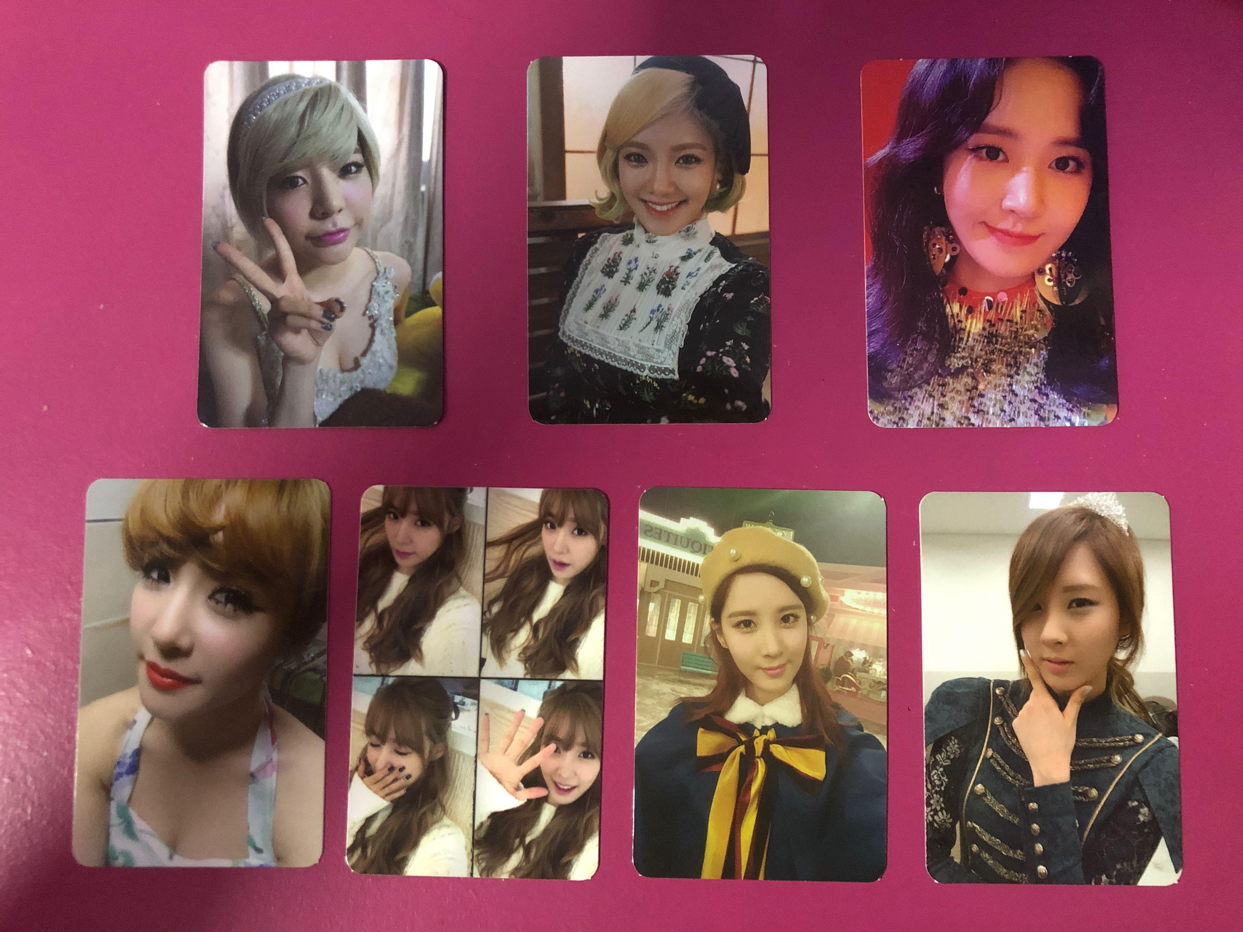 SNSD OFFICIAL PC - GIRLS GENERATION SUNNY HYOYEON TIFFANY SEOHYUN PHOTOCARD