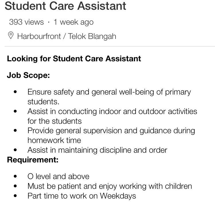 Student Care Assistant