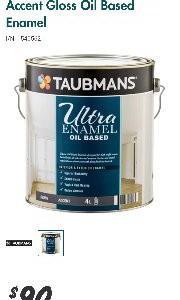 Taubmans Ultra Enamel 4L Accent Gloss Oil Based Enamel