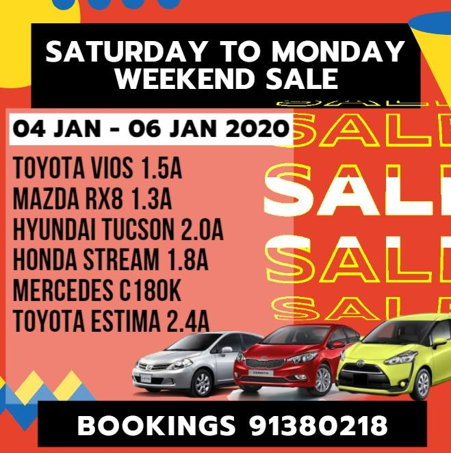04 Jan - 06 Jan 2020 Weekend Package from Sat - Mon
