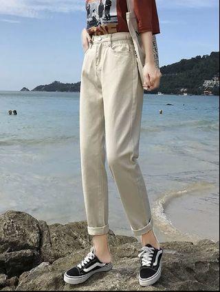 Off-white denim pants