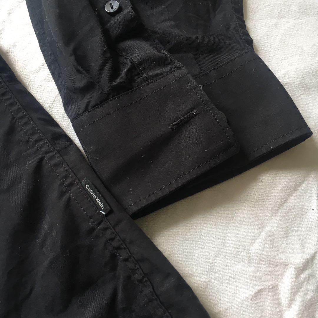Calvin Klein Black Formal Long Sleeved Button Down Shirt