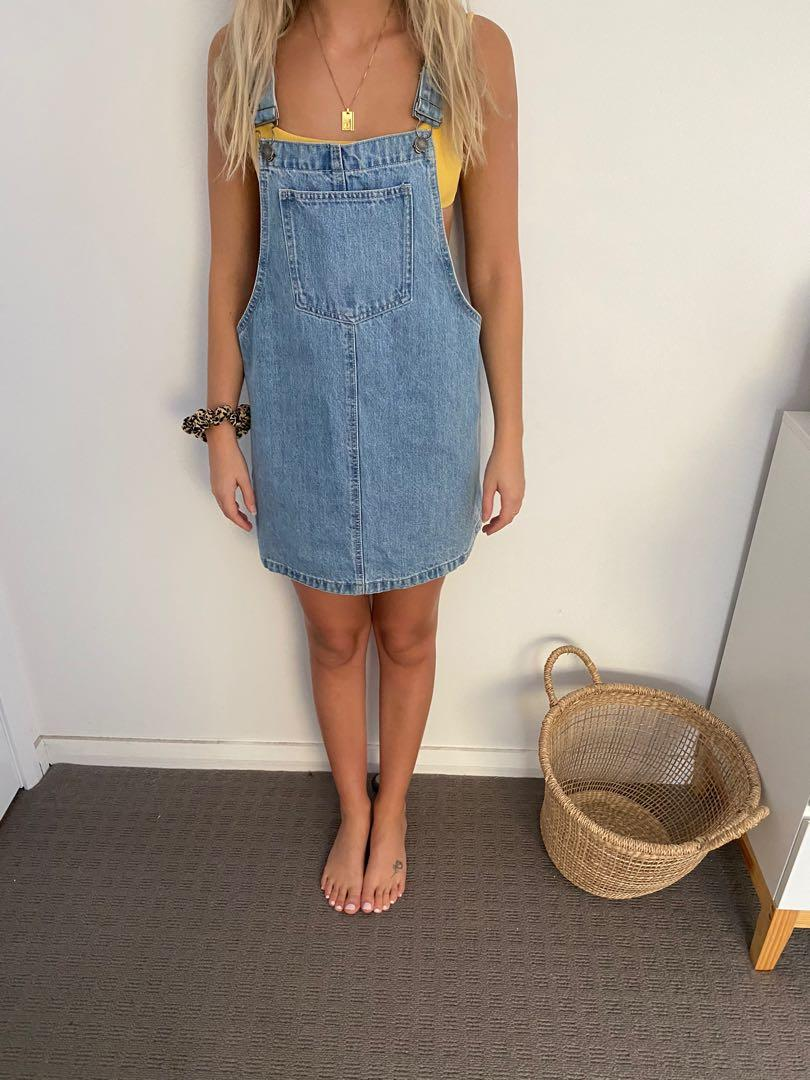 Denim pinafore. Brand new from general pants never worn. Size Small