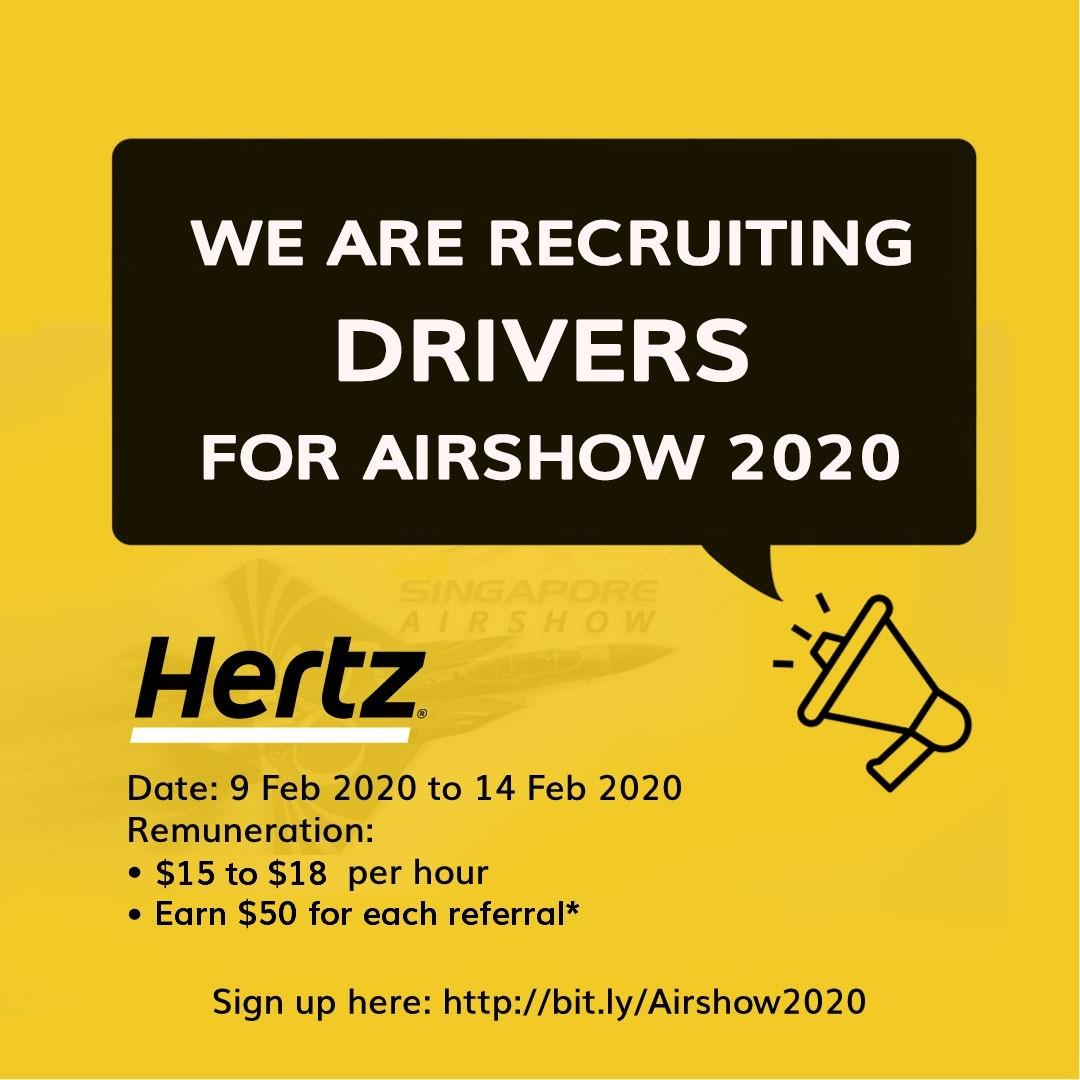 Event  Driver for Singapore Airshow 2020