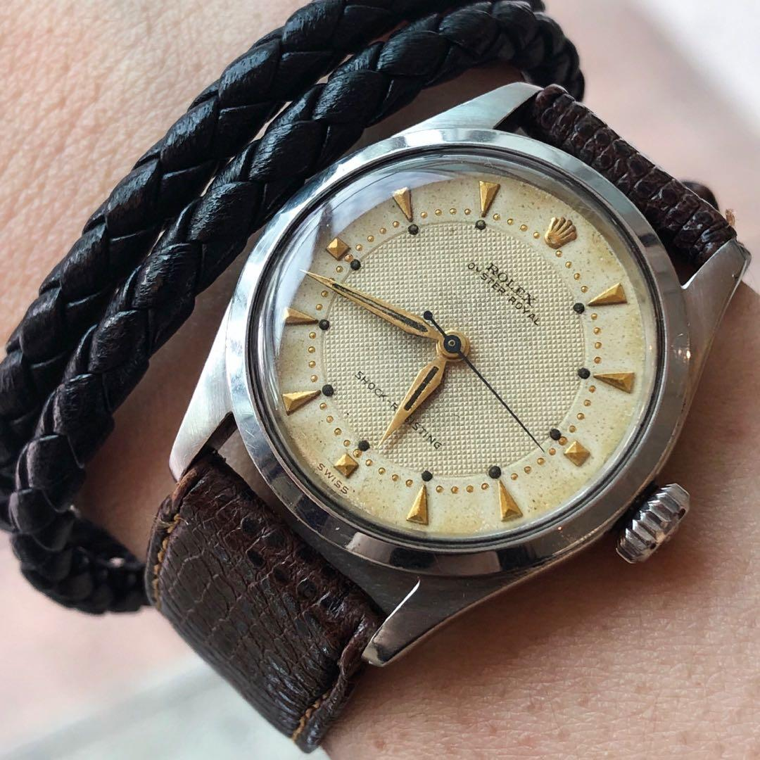 SOLD-  Rare 31mm Rolex Oyster Royal with Warm Creamy Honeycomb dial in Amazing Original Condition!