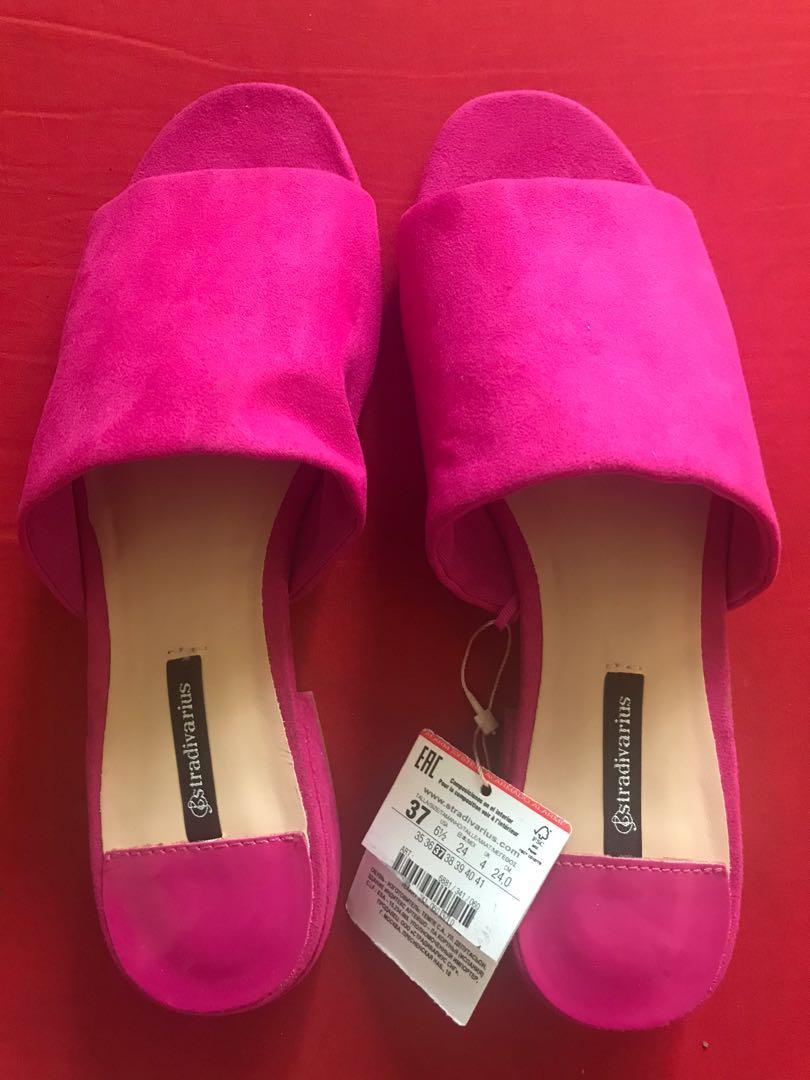 Hot Pink sandals, Women's Fashion