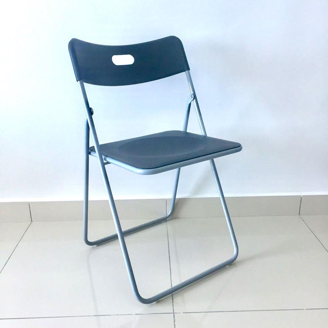 Ikea Foldable Chair With Cushion Pad
