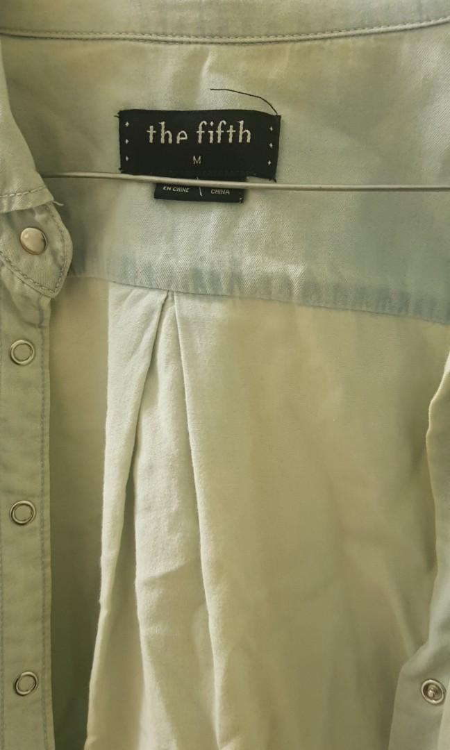 Light denim dress/top/cardigan size medium from fifth label