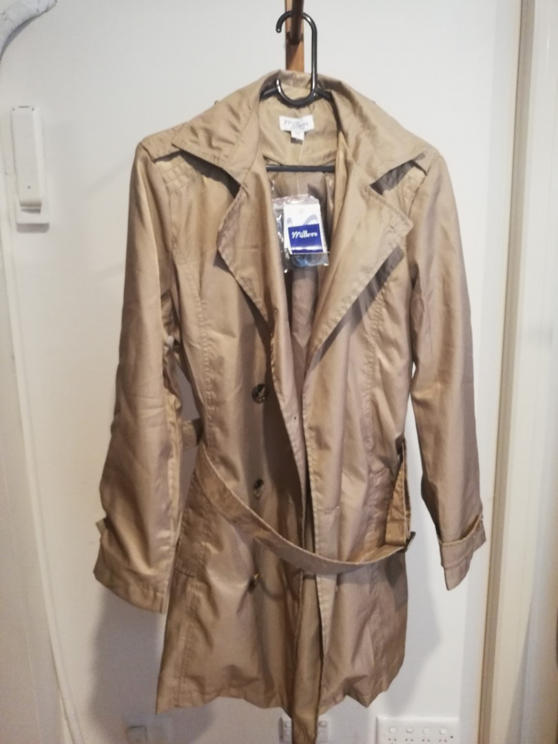 M - Millers - BNWT Beige Trenchcoat Style Belted Button Up