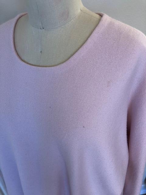 Maje Women's Sweater Used Pink Size 2 Cropped Boxy Crew Neck