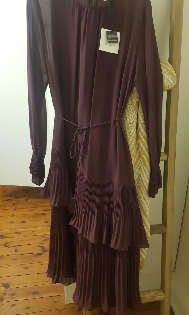 Maron frill dress size 12 from cooper street brand new