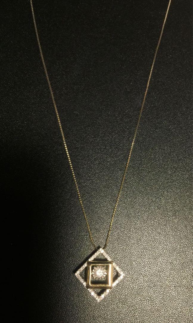 Michael Hill Diamond 1/4 ct Two Tone Gold Necklace