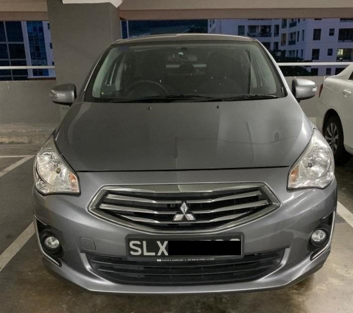 Mitsubishi Attrage 1.2 CVT Car for Rent, Car for rent @ Hillview