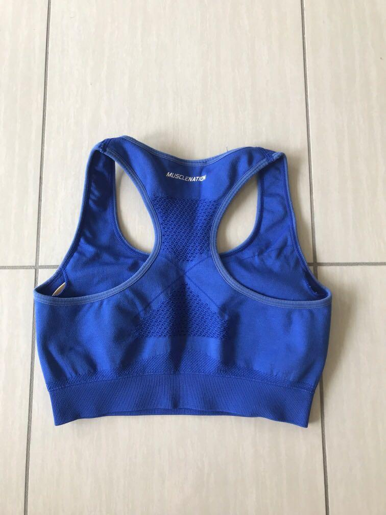 Musclenation electric blue seamless sports bra Small
