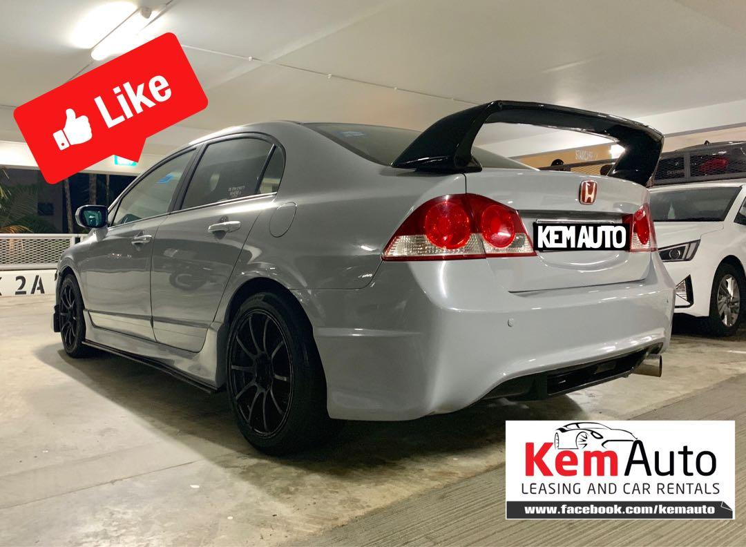 Nardo Grey Honda Civic 1.8A Type R bodykit Drift Racing Exhaust