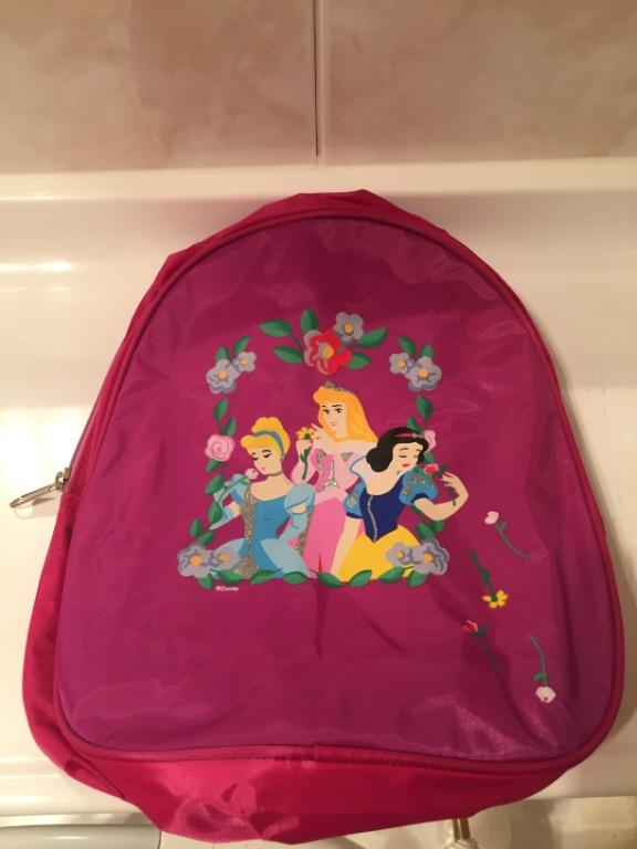NEW Disney Princess Pink Children's Zipped Backpack