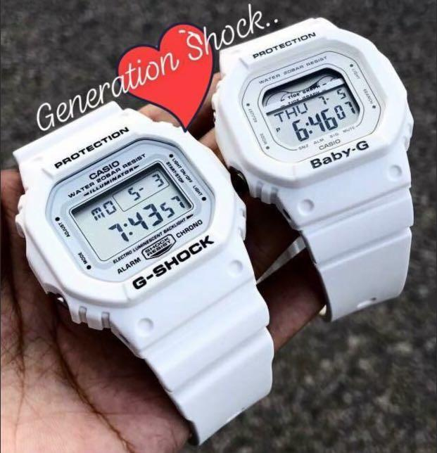NEW🌟COUPLE💝SET : BABY-G G-SHOCK DIVER UNISEX SPORTS WATCH : 100% ORIGINAL AUTHENTIC  BABY-G-SHOCK : DW-5600MW-7 + BLX-560-7 : DW-5600-MW-7