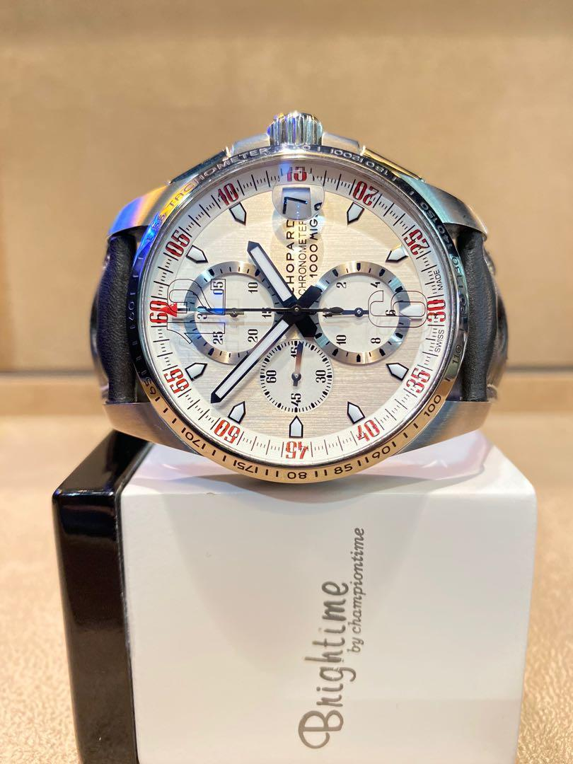 Pre Owned Chopard Mille Miglia XL Speed 168459-3041 Silver Dial Automatic Titanium Casing Leather