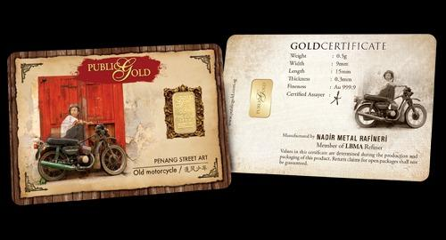 Public Gold LBMA Bullion Bar 0.5g (Au 999.9) - Motorcycle (LIMITED EDITION)