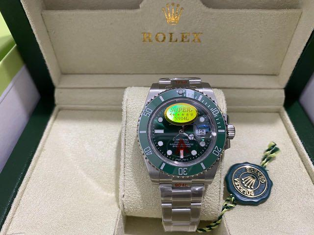 Rolex Watch Submariner, KacaSappire, 40mm/4cm, Logam Full 316 Stainless Steel, Fullset, Mesin 2836,