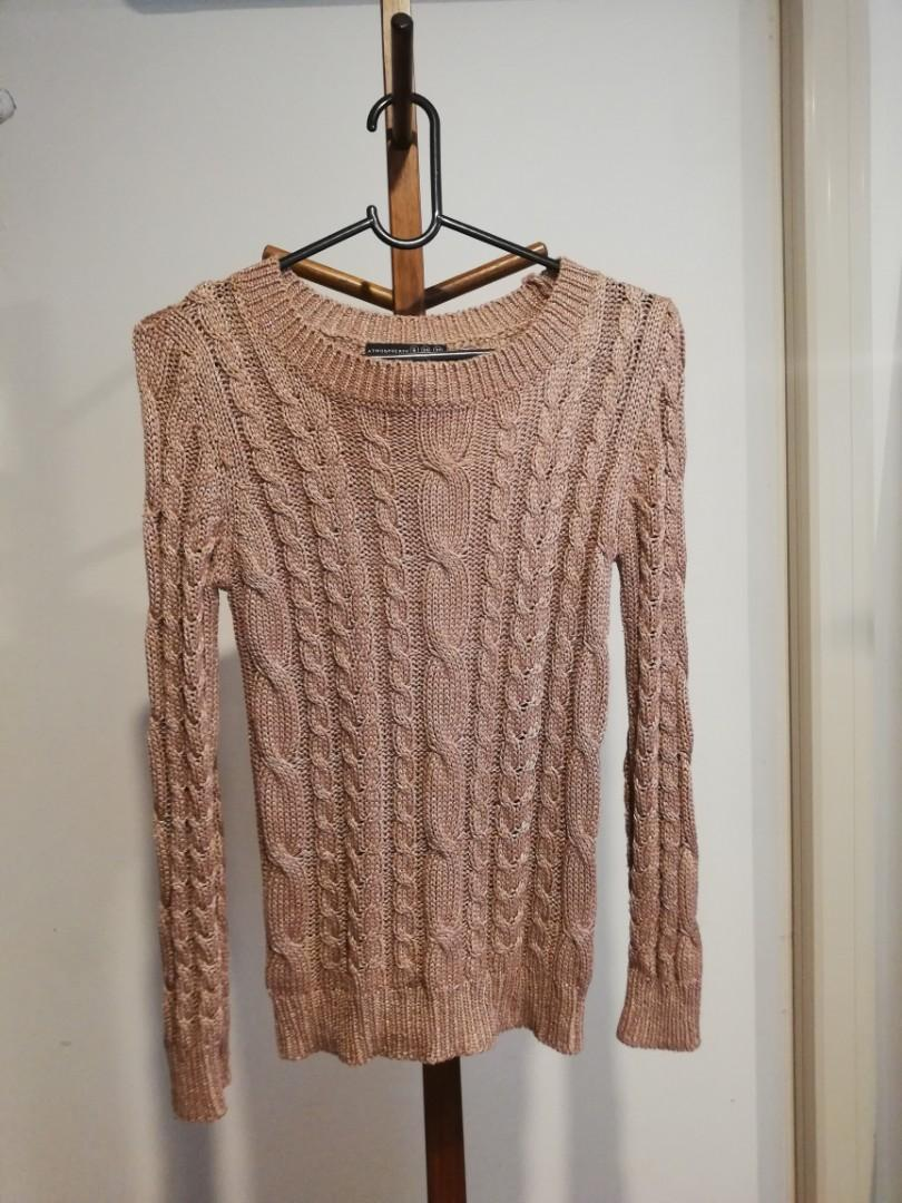 XS/6 - Atmosphere - Pale Pink Knit Patterned Jumper