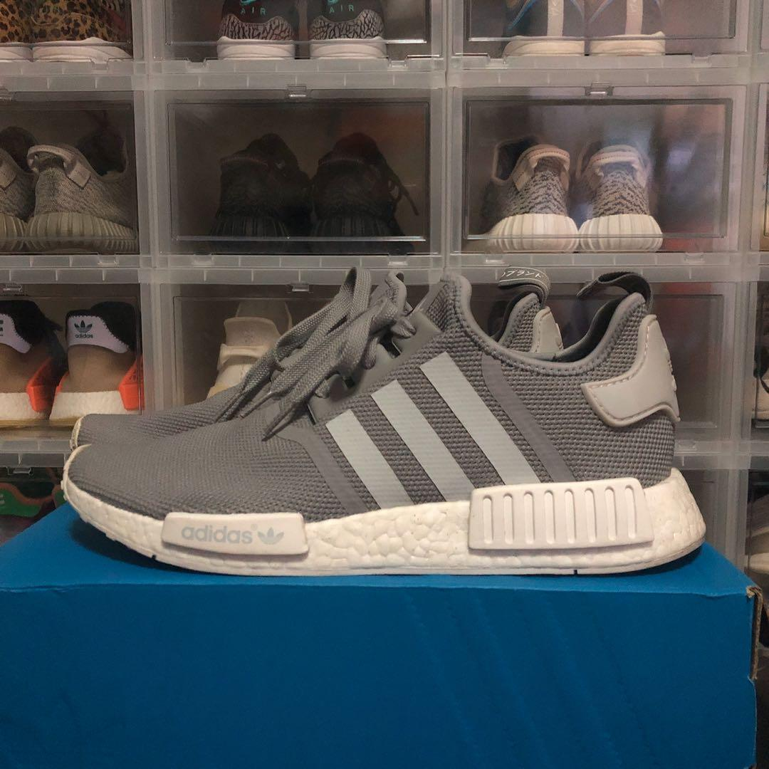 US 10.5 Adidas NMD R1 Grey, Men's