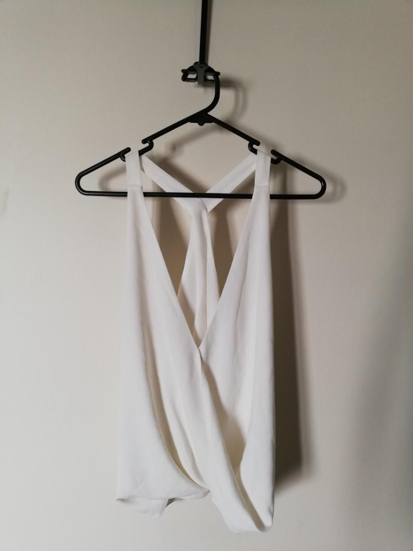 XS/6 - Sheike - Delicate Cream Beautiful Strappy Slightly Cropped Top
