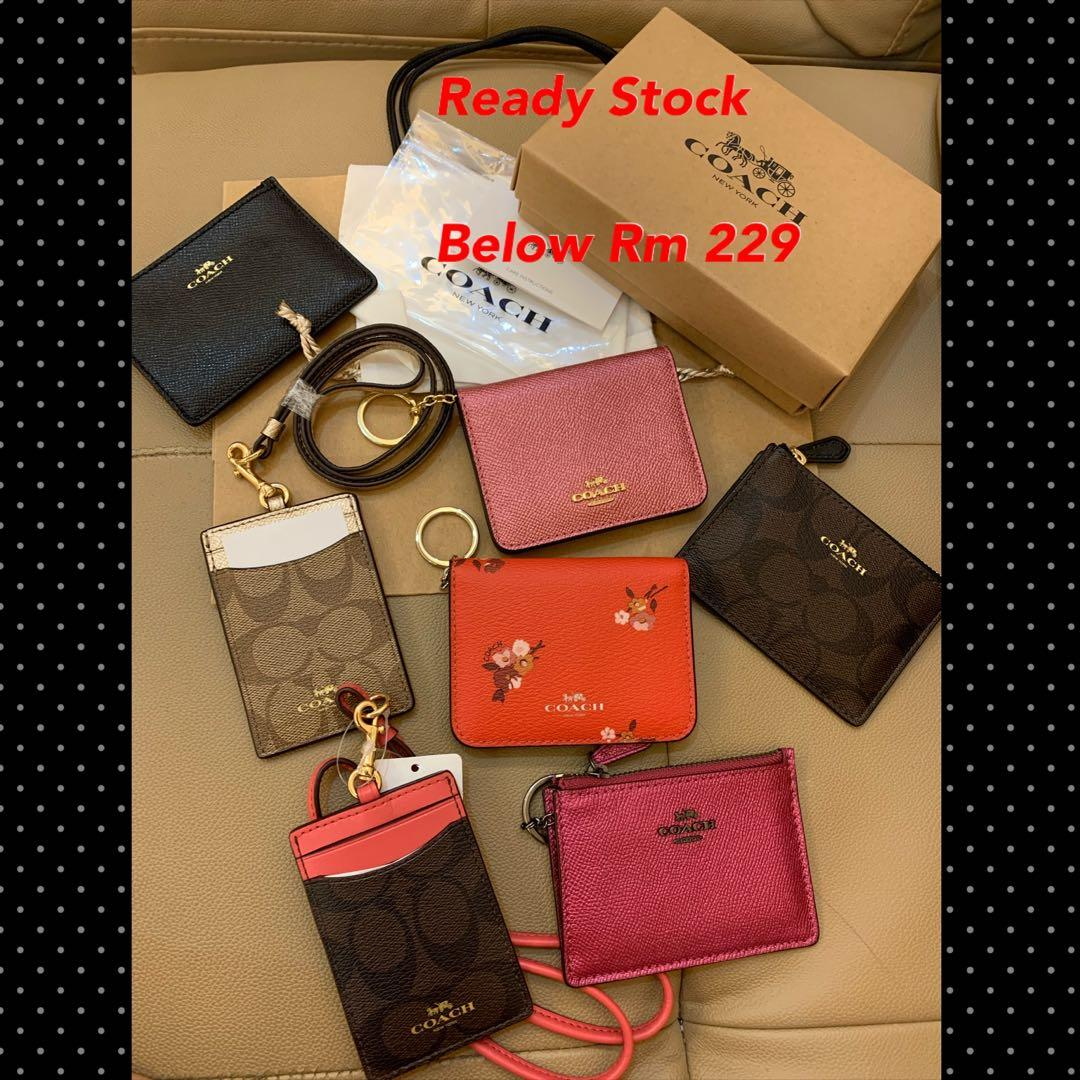 (04/01/20)Ready Stock Authentic coach women wallet purse sling bag crossbody Tory Burch belt bag ysl Kate spade coach wallet lanyard card holder hhjuhj