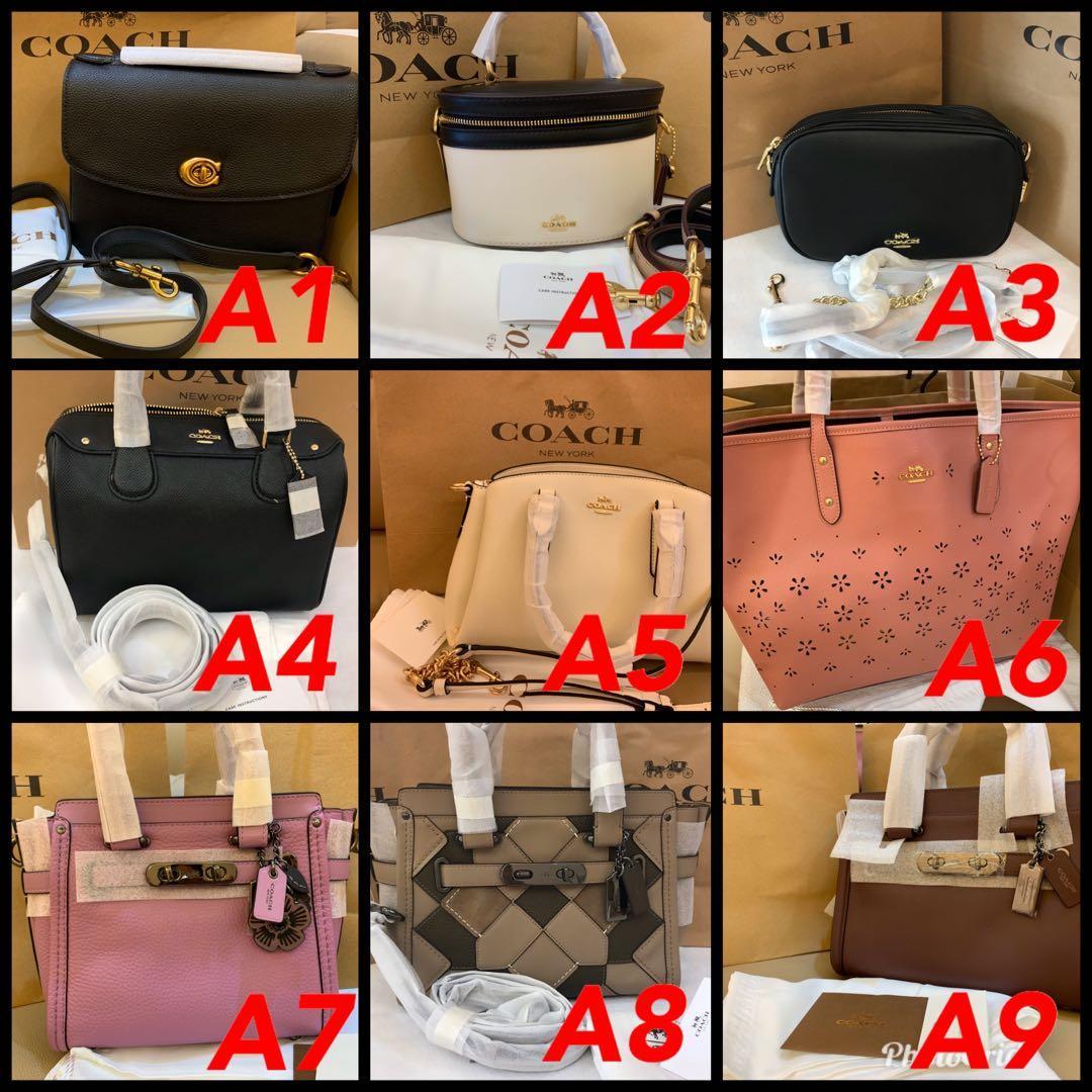 (25/02/20)Ready Stock authentic coach women bag wallet purse  sling bag Tory Burch backpac belt bag woc permanent listingggbfgvvbbbbbbb