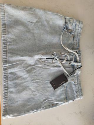 Glassons denim skirt new