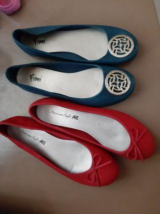 Bundle Fiomi -American Eagle Bundle Blue Green and Red Doll Shoes