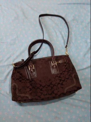 ORIGINAL Coach Body Bag Shoulder Bag Sling bag Brown