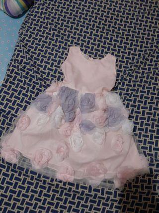 Tuttu Floral Baby Pink Sleeveless Dress