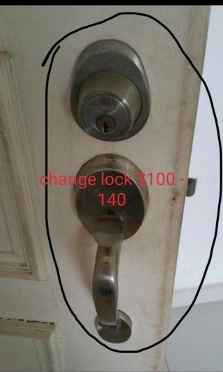 Door lock replacement,handyman service